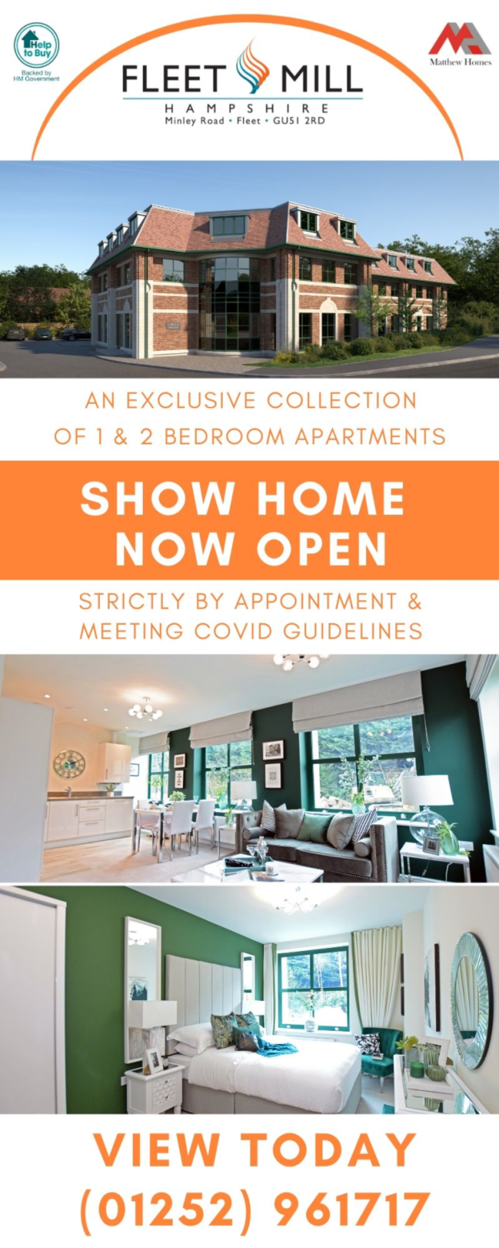 Sponsor Advert - Fleet Mill Show Home - Now open